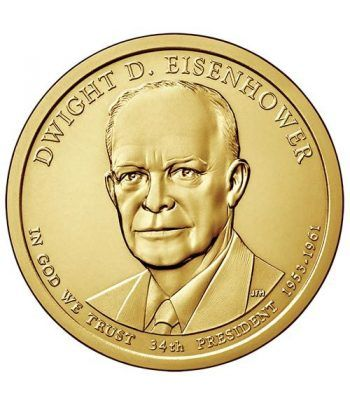 E.E.U.U. 1$ (2015) 34º Presidencial Eisenhower (2cecas)  - 2