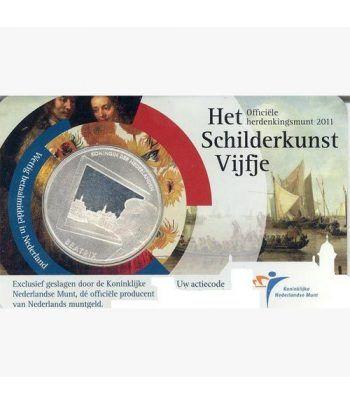 Holanda 5 euros 2011 Paises Bajos y pintura. Coincard.  - 1