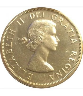 Canada 1$ 1963 Canoa. Plata.  - 2