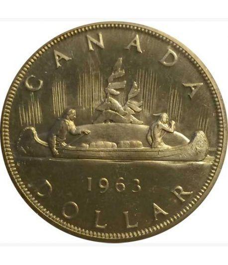 Canada 1$ 1963 Canoa. Plata.  - 1