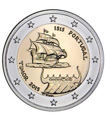 moneda conmemorativa 2 euros Portugal 2015 Timor.  - 2