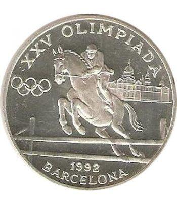 Moneda de plata 20 Diners Andorra 1990 Salto a Caballo.  - 4