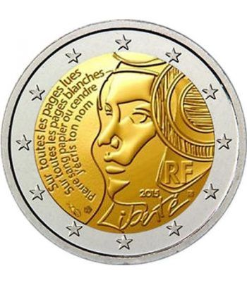 moneda conmemorativa 2 euros Francia 2015 Federación.  - 2