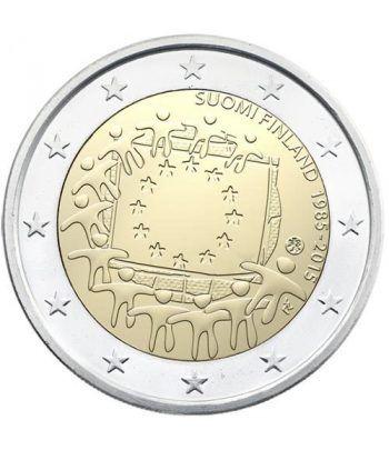 moneda Finlandia 2 euros 2015. 30 Años bandera de Europa.  - 2