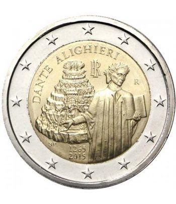 moneda conmemorativa 2 euros Italia 2015 Dante.  - 2