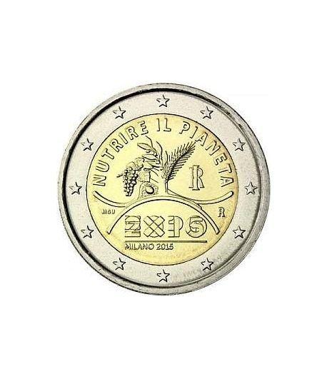 moneda conmemorativa 2 euros Italia 2015 Expo Milán.  - 2