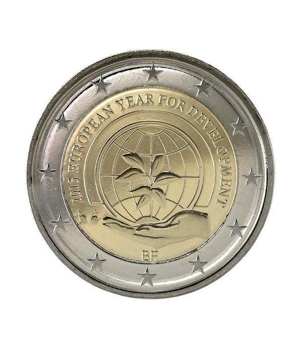 moneda conmemorativa 2 euros Belgica 2015 Año Desarrollo.  - 2
