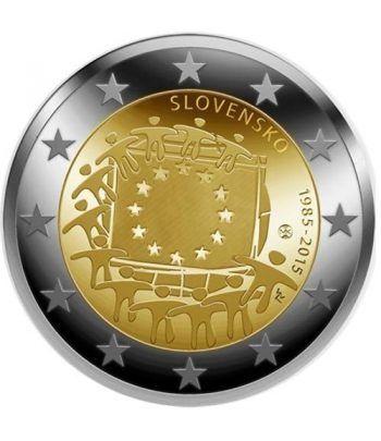 moneda Eslovaquia 2 euros 2015. 30 Años bandera de Europa.  - 2