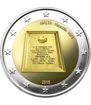 moneda conmemorativa 2 euros Malta 2015 República  - 2