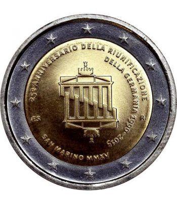 moneda conmemorativa 2 euros San Marino 2015 Reunificacion  - 1