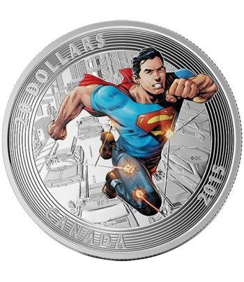 Moneda de plata coloreada 20$ Canada Superman Action Comics 15  - 1