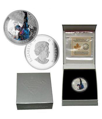 Moneda de plata coloreada 20$ Canada Superman Unchained 15  - 2