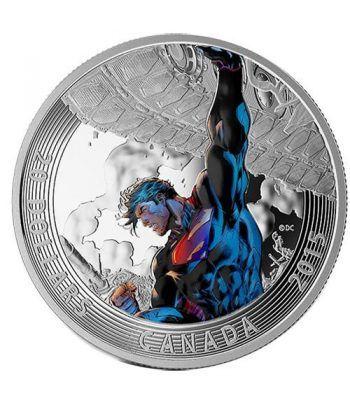 Moneda de plata coloreada 20$ Canada Superman Unchained 15  - 1
