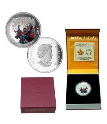 Moneda de plata coloreada 20$ Canada Superman 2015  - 2