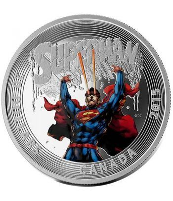 Moneda de plata coloreada 20$ Canada Superman 2015  - 1