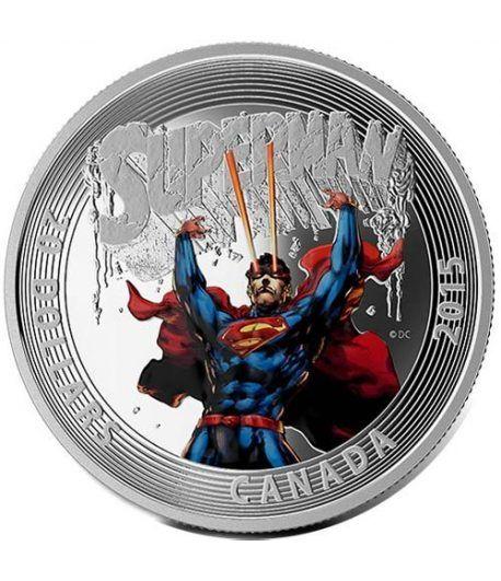 Moneda de plata coloreada 20$ Canada Superman 2015  - 1