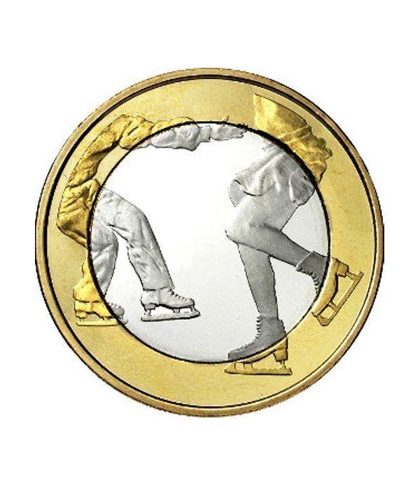 moneda Finlandia 5 Euros 2015 Deportes. Patinaje. Cuproniquel.  - 1