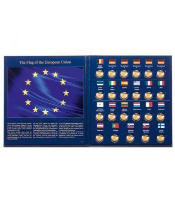 LEUCHTTURM PRESSO Album monedas 2€ 30º Aniversario Bandera EU Album Monedas Euro - 1