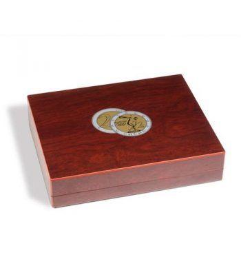 LEUCHTTURM Estuche de madera con 4 bandejas para 140m. de 2€ Estuche Monedas - 2