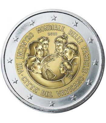 moneda conmemorativa 2 euros Vaticano 2015. Estuche Oficial.  - 1