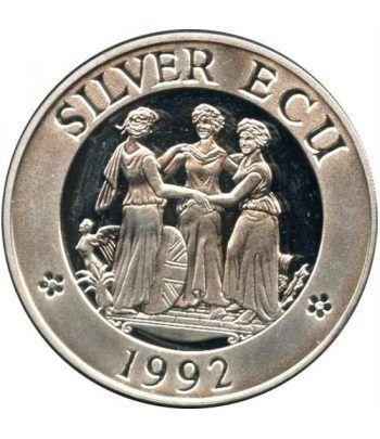 Moneda de plata Silver ECU Europa Gran Bretaña 1992 Proof  - 1