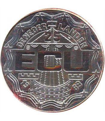 Moneda de plata 25 Ecu Holanda 1989 Huygens. Proof.  - 4