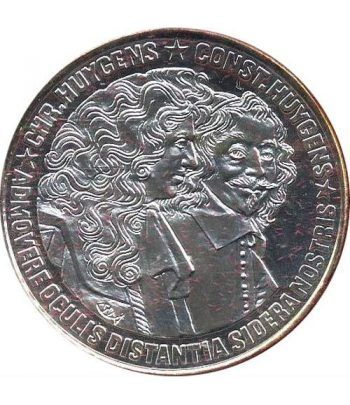 Moneda de plata 25 Ecu Holanda 1989 Huygens. Proof.  - 1