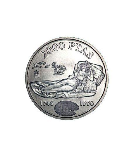 Moneda conmemorativa 2000 ptas. 1996.  Plata.  - 1