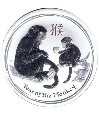 Moneda onza de plata 1$ Australia Lunar Mono 2016.  - 1