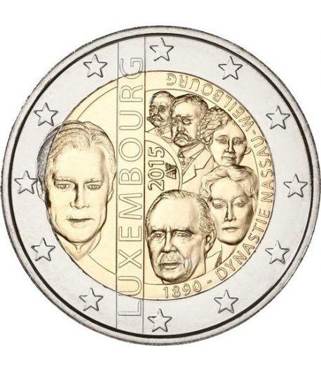 moneda conmemorativa 2 euros Luxemburgo 2015 Nassau.  - 2