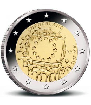 moneda Holanda 2 euros 2015. 30 Años bandera de Europa.  - 2