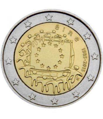 moneda Irlanda 2 euros 2015. 30 Años bandera de Europa.  - 2