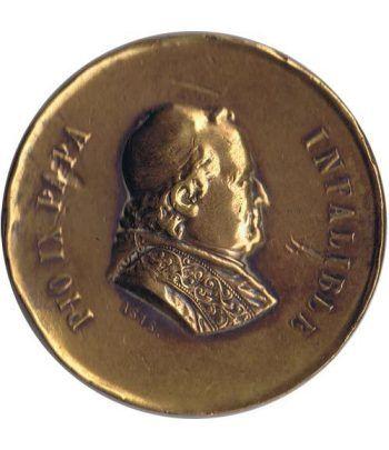 Medalla Papa Pio IX 1ª Romería Española al Vaticano 1876  - 1