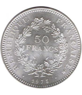 Moneda de plata 50 francos Francia 1975.  - 1