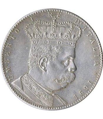 Moneda de plata 5 Liras Eritrea 1891 Tallero. Reproducción.  - 1