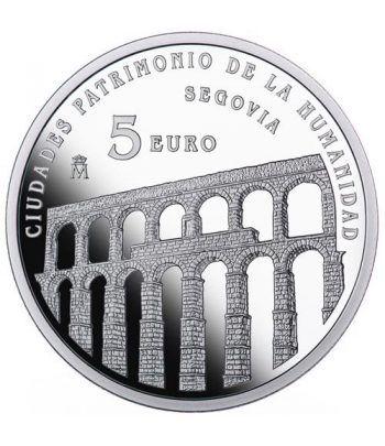 Moneda 2015 Patrimonio de la Humanidad. Segovia. 5 euros.  - 1