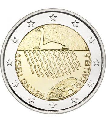 moneda conmemorativa 2 euros Finlandia 2015 Akseli.  - 2