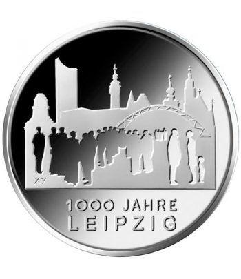 moneda Alemania 10 Euros 2015 F. 1000 Años Leipzig.  - 1