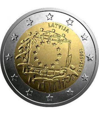 moneda Letonia 2 euros 2015. 30 Años bandera de Europa.  - 2