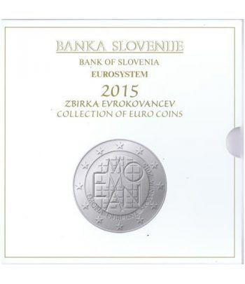 Cartera oficial euroset Eslovenia 2015. Incluye 2 y 3 euros  - 2
