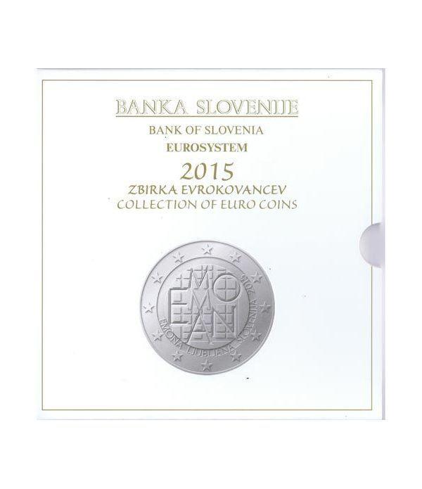 Cartera oficial euroset Eslovenia 2015. Incluye 2 y 3 euros  - 1