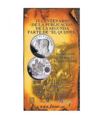 Cartera oficial euroset 30 Euros 2015 El Quijote.  - 1