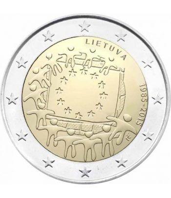 moneda Lituania 2 euros 2015. 30 Años bandera de Europa.  - 2