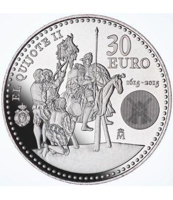 """Moneda conmemorativa 30 euros 2015. 2ª Parte de """"El Quijote"""".  - 2"""