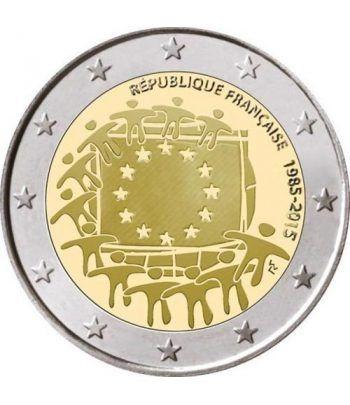 moneda Francia 2 euros 2015. 30 Años bandera de Europa.  - 2