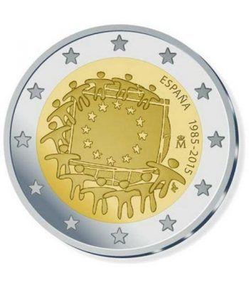 moneda España 2 euros 2015. 30 Años bandera de Europa.  - 2