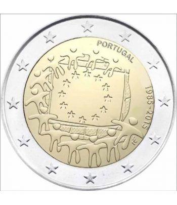 moneda Portugal 2 euros 2015. 30 Años bandera de Europa.  - 2