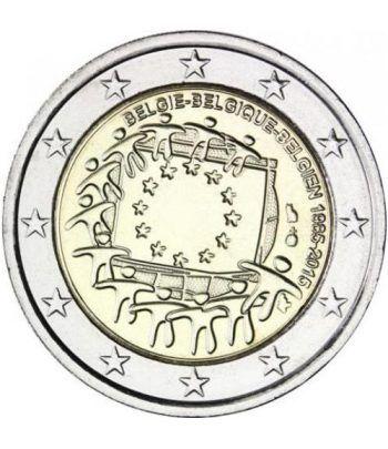 moneda Belgica 2 euros 2015. 30 Años bandera de Europa.  - 2