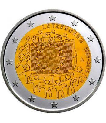 moneda Luxemburgo 2 euros 2015. 30 Años bandera de Europa.  - 2