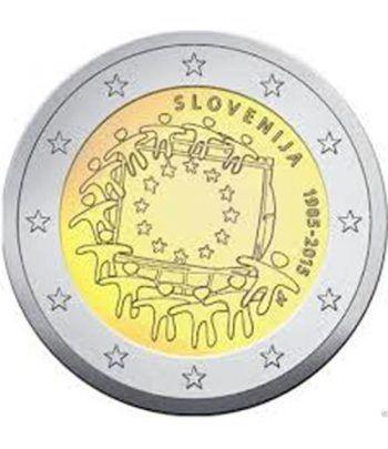 moneda Eslovenia 2 euros 2015. 30 Años bandera de Europa.  - 2